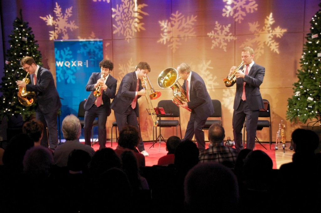 The Canadian Brass perform Christmas music live in The Greene Space