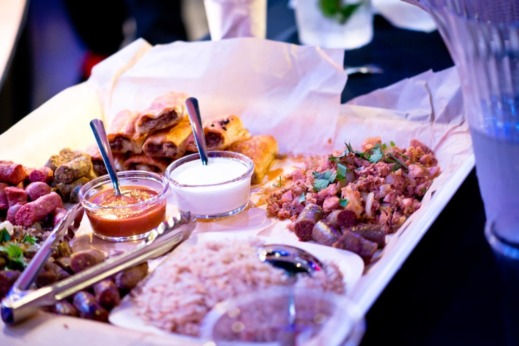 A platter of halal food
