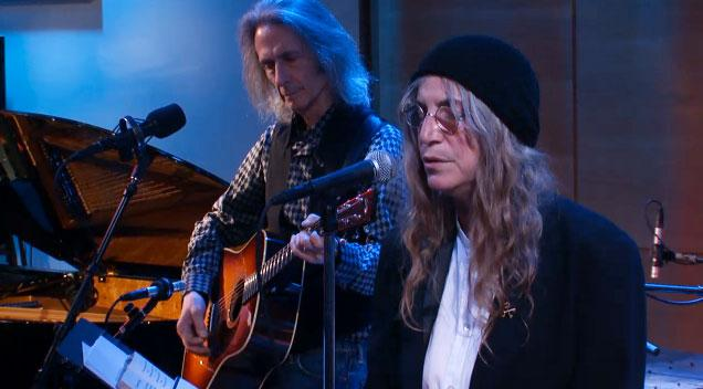 Patti Smith, Jesse Paris Smith and Eric Hoegemeyer in Music and Poetry