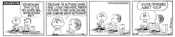 Early Peanuts comic strip #5