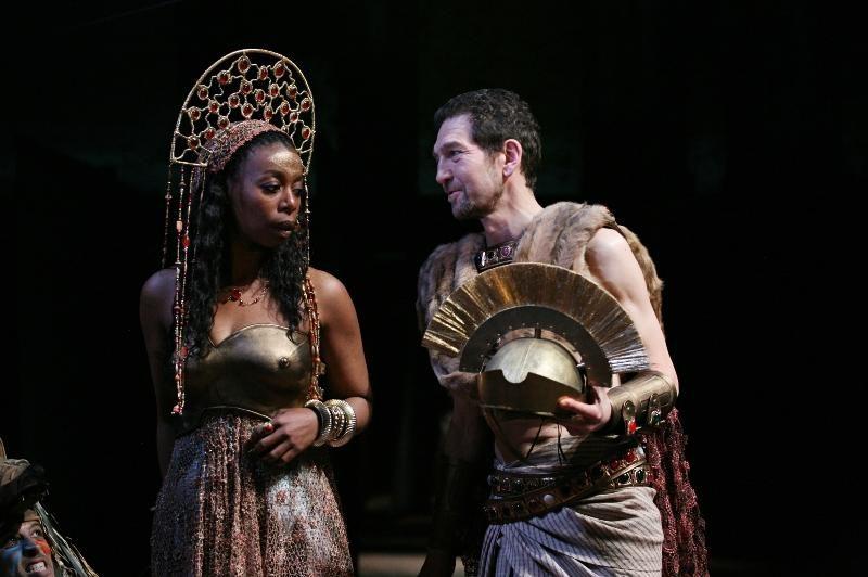 Noma Dumezweni and Greg Hicks in the Royal Shakespeare Company's Julius Caesar