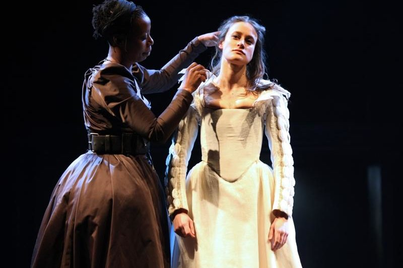 Noma Dumezweni (Nurse), Mariah Gale (Juliet) in the Royal Shakespeare Company's Romeo and Juliet