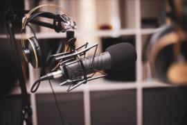 Studio microphone photo
