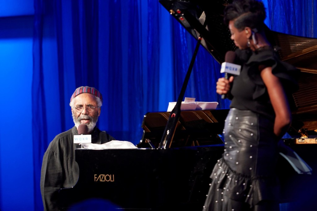 Pianist Roy Eaton and host Jade Simmons onstage at The Greene Space
