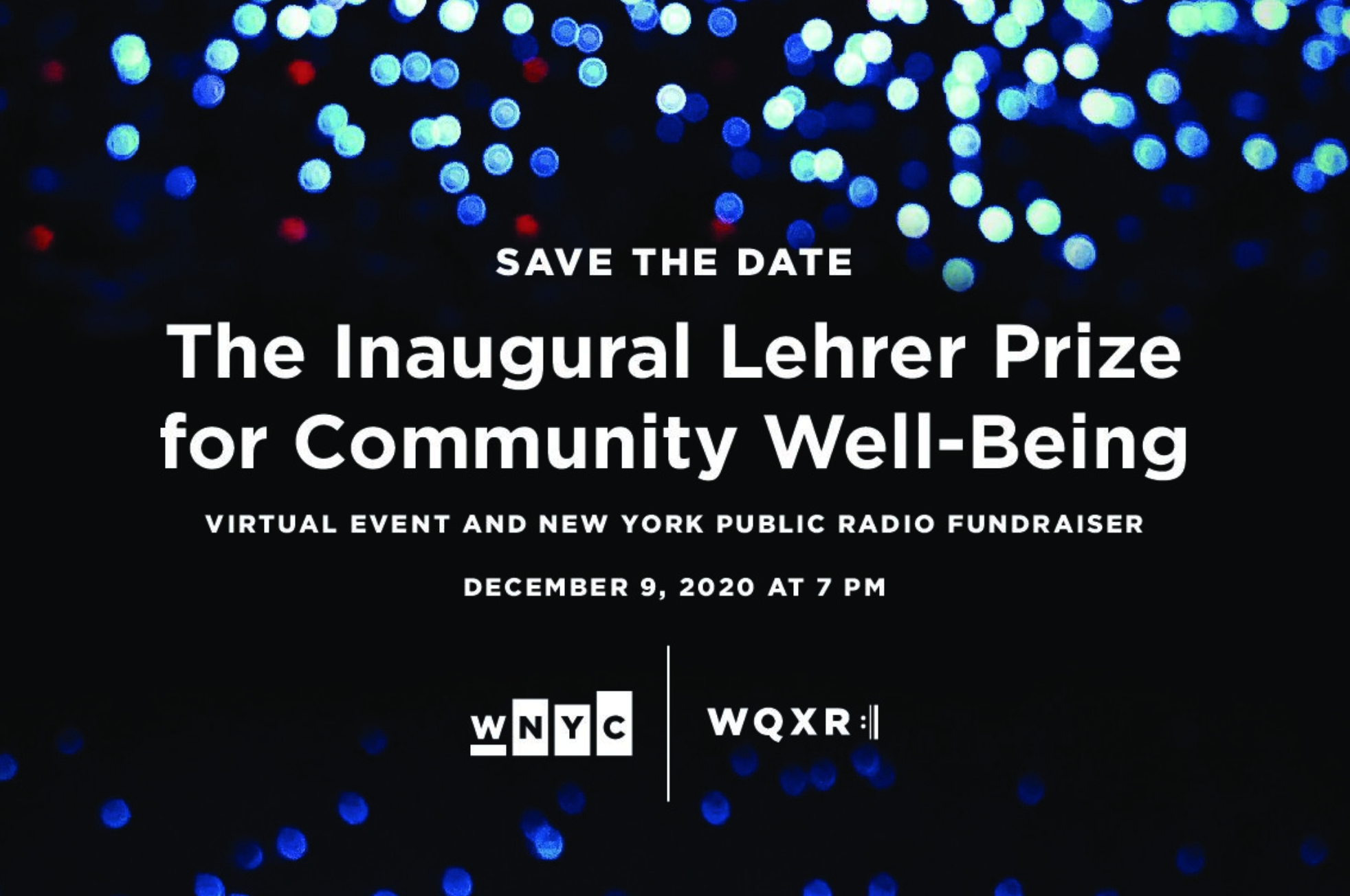 The Inaugural Lehrer Prize for Community Well-Being