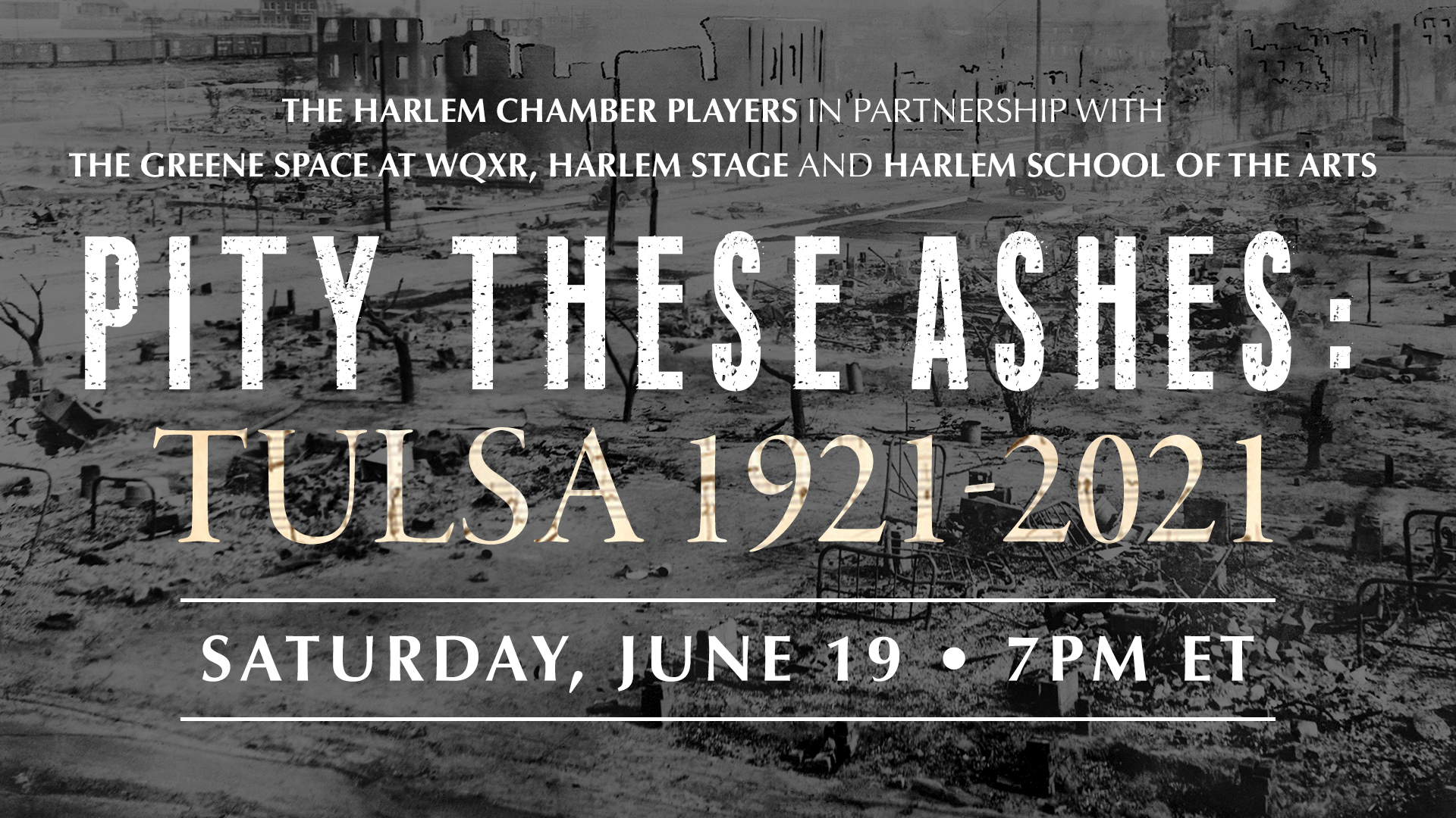 Pity These Ashes: Tulsa 1921-2021